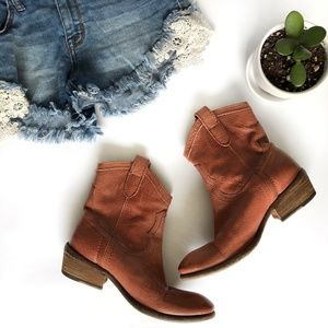 Frye | Carson Short Boot Brown Leather Size 5.5